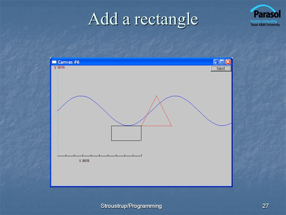 Add a rectangle 27Stroustrup/Programming