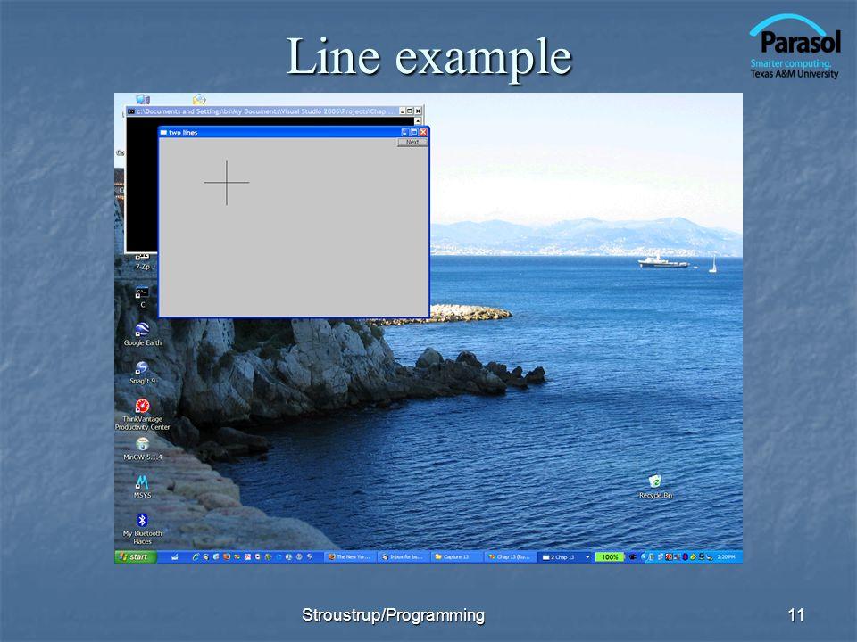 Line example 11Stroustrup/Programming