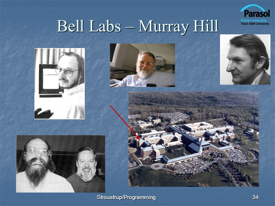 Bell Labs – Murray Hill 34Stroustrup/Programming