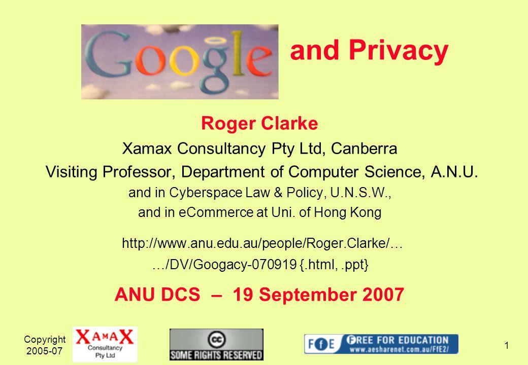 Copyright 2005-07 22 Google as Wireless Internet Access Provider http://www.techworld.com/mobility/...