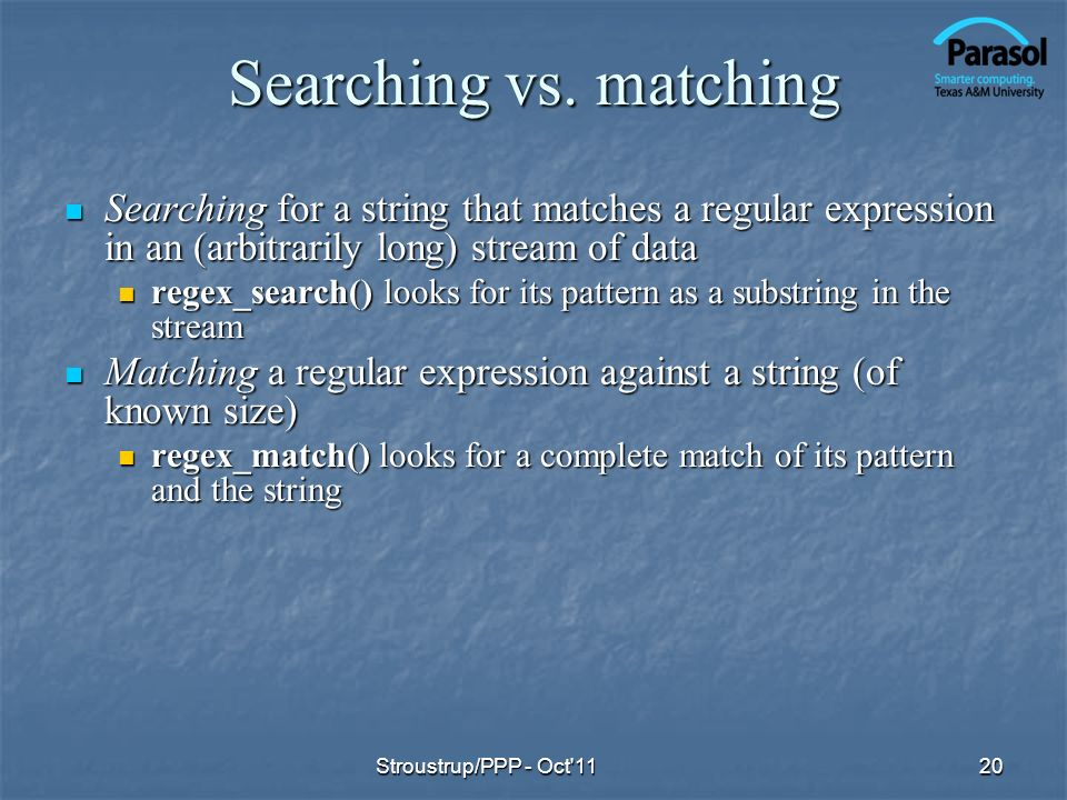 Searching vs.