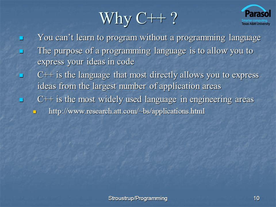 10 Why C++ .