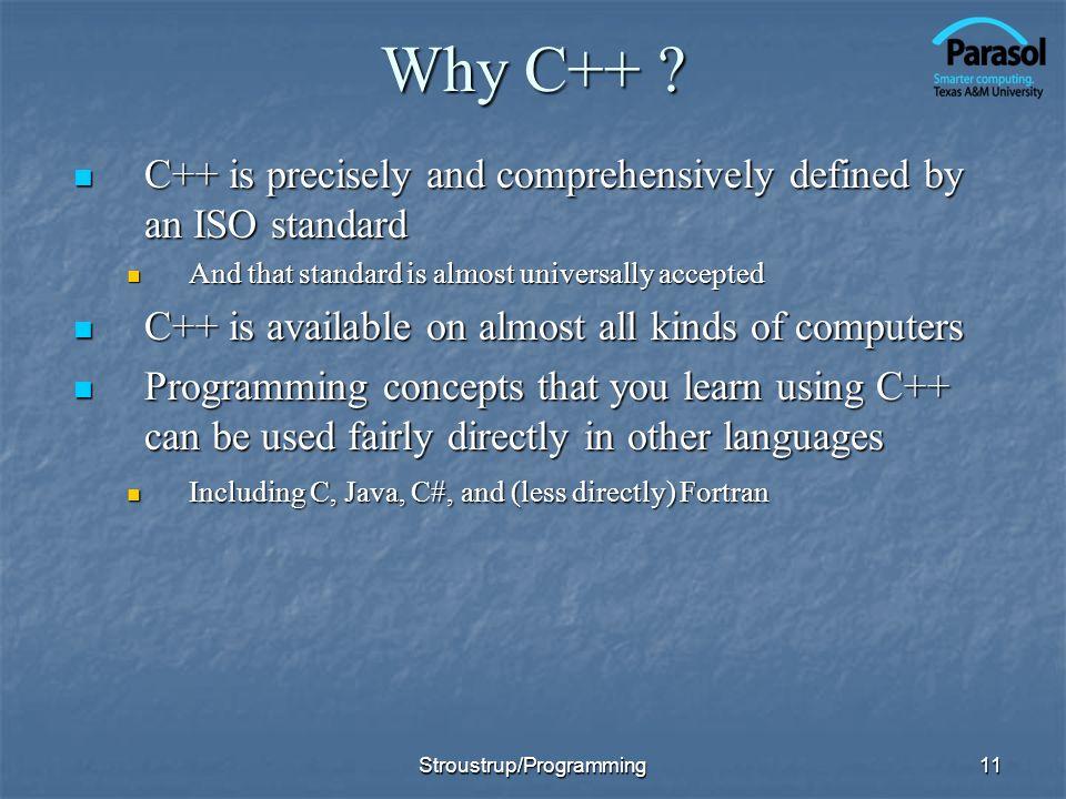 11 Why C++ .