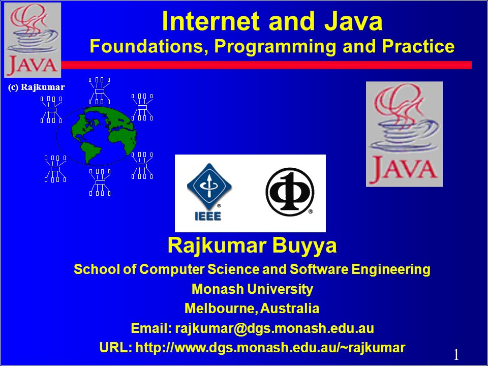131 (c) Rajkumar AWT & Applets An Applet is a Java program capable of running from within a web page (HTML document) Steps to incorporate and run an applet: · Have MyApplet.java · javac MyApplet.java · Have MyApplet.class · Create MyApplet.html · appletviewer MyApplet.html (or open MyApplet.html in browsers like Netscape/IE).