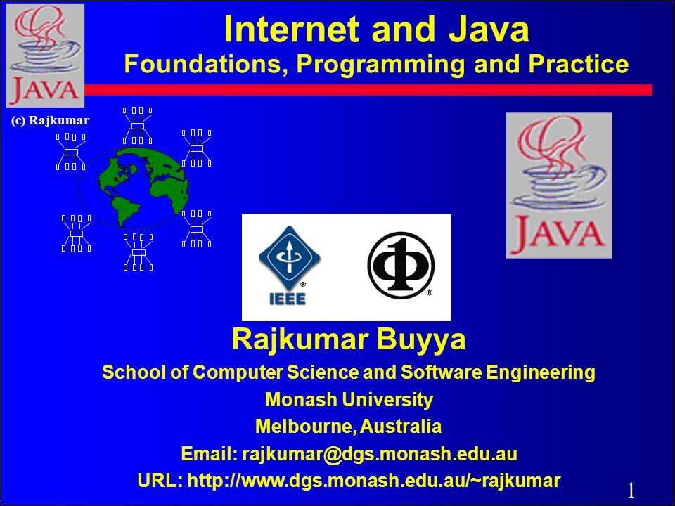 171 (c) Rajkumar java.net c Used to manage: c URL streams c Client/server sockets c Datagrams