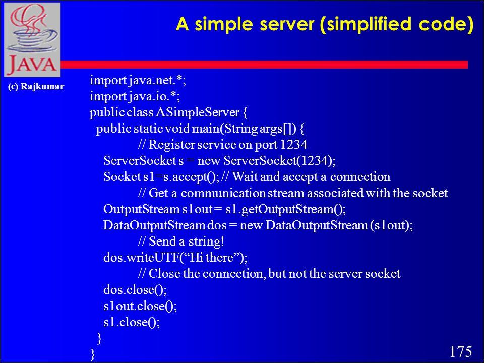 174 (c) Rajkumar Client side Socket Operations 1.