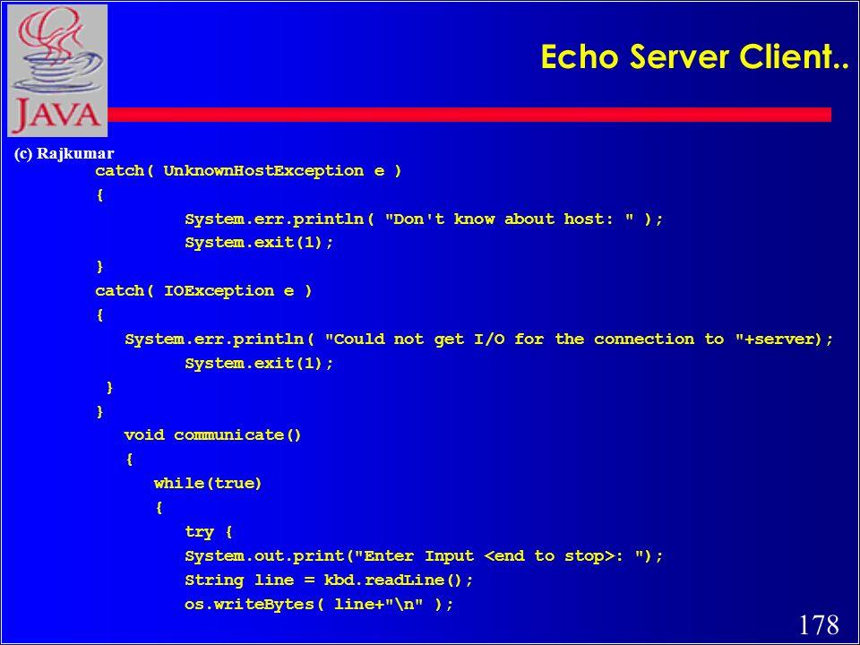 177 (c) Rajkumar Echo Server Client..