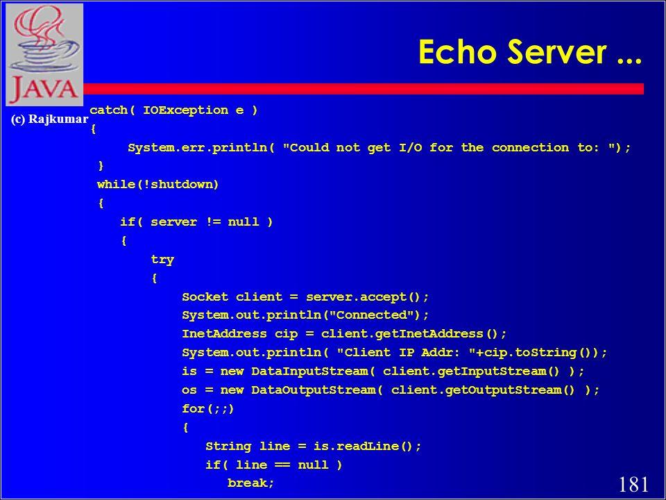 180 (c) Rajkumar Echo Server...