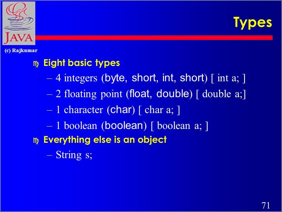 70 (c) Rajkumar Unit I -- What is Java .