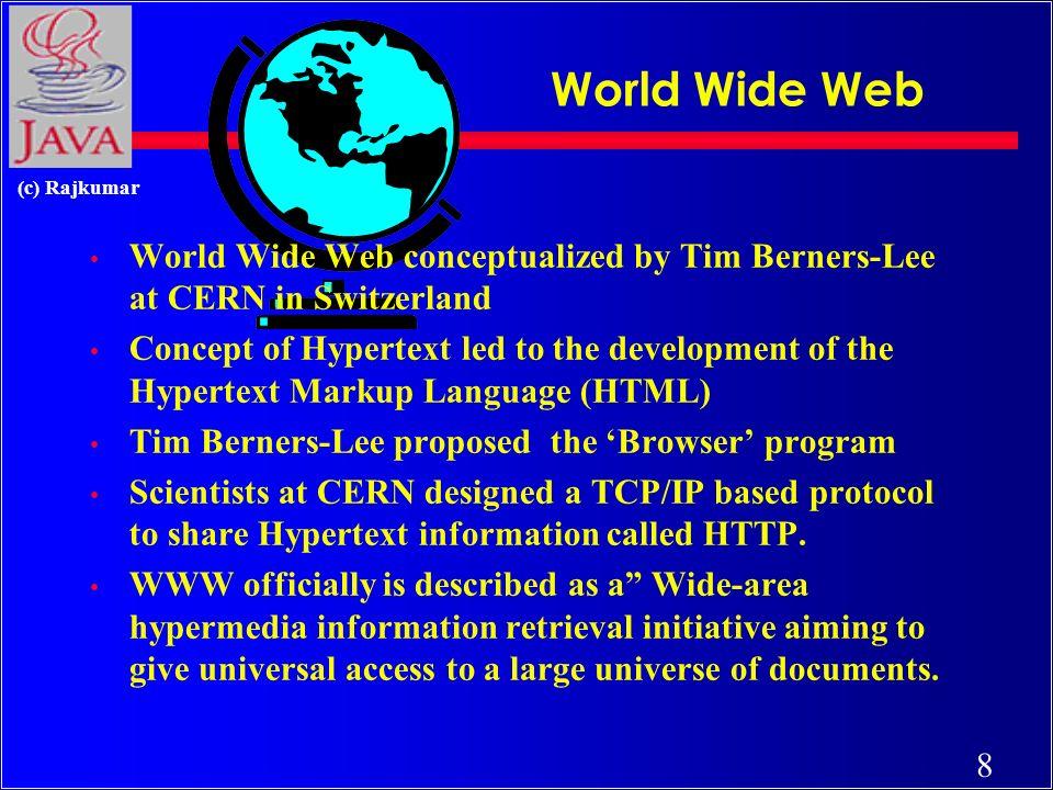 118 (c) Rajkumar Listener Interfaces INTERFACE NAME (IN JAVA.AWT.EVENT ) [1] ActionListener [2] ItemListener [3] MouseMotionListener [4] MouseListener [5] KeyListener [6] FocusListener [7] AdjustmentListener [8] ComponentListener [9] WindowListener [10] ContainerListener [11] TextListener