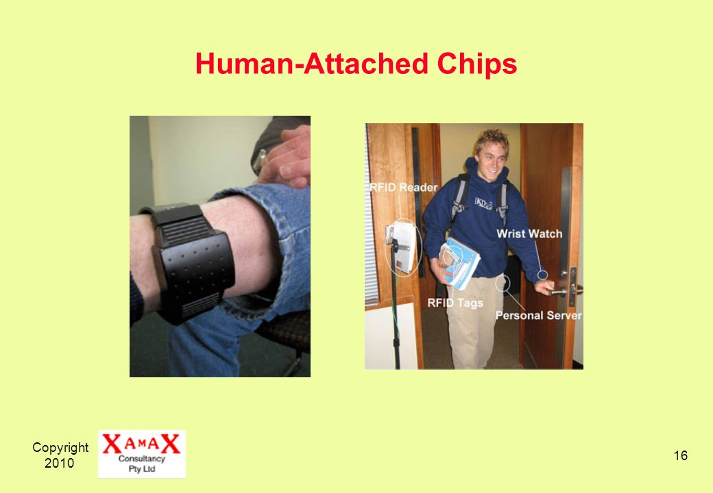 Copyright 2010 16 Human-Attached Chips