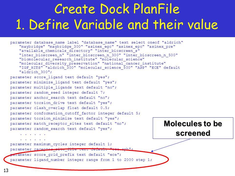 13 parameter database_name label