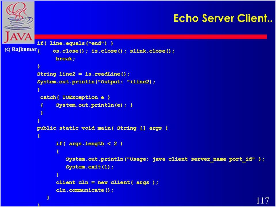 117 (c) Rajkumar Echo Server Client..