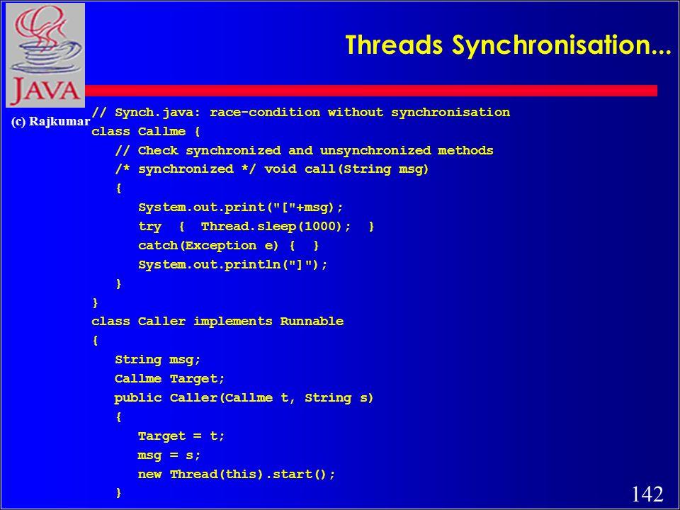 142 (c) Rajkumar Threads Synchronisation...
