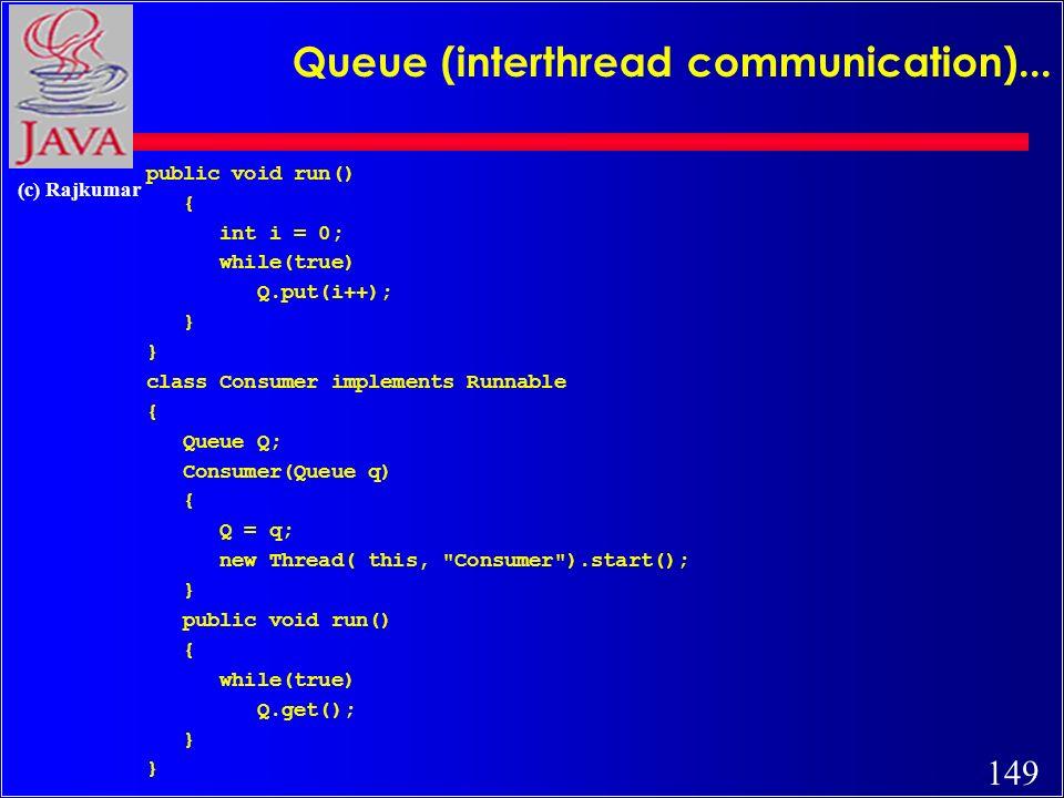 149 (c) Rajkumar Queue (interthread communication)...