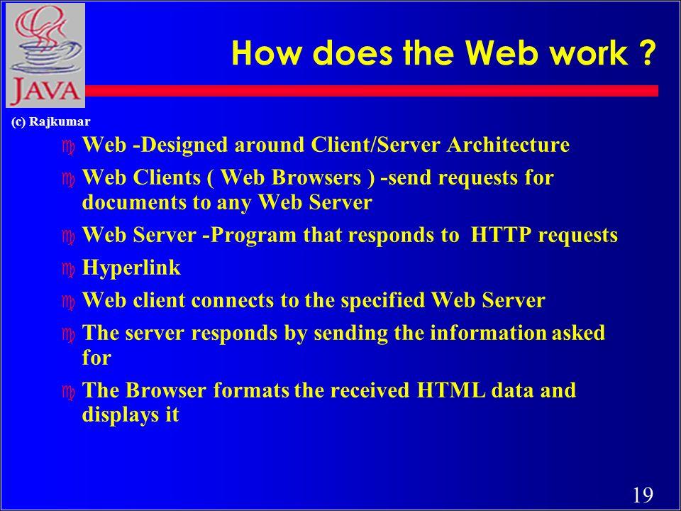19 (c) Rajkumar How does the Web work .