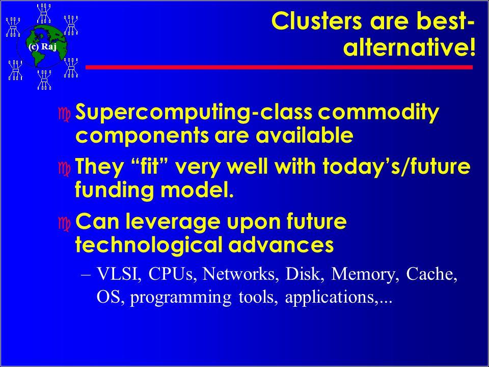 (c) Raj A typical Cluster Computing Environment PVM / MPI/ RSH Application Hardware/OS ???