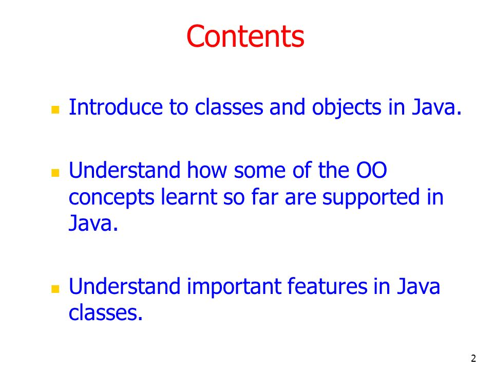 3 Introduction Java is a true OO language and therefore the underlying structure of all Java programs is classes.