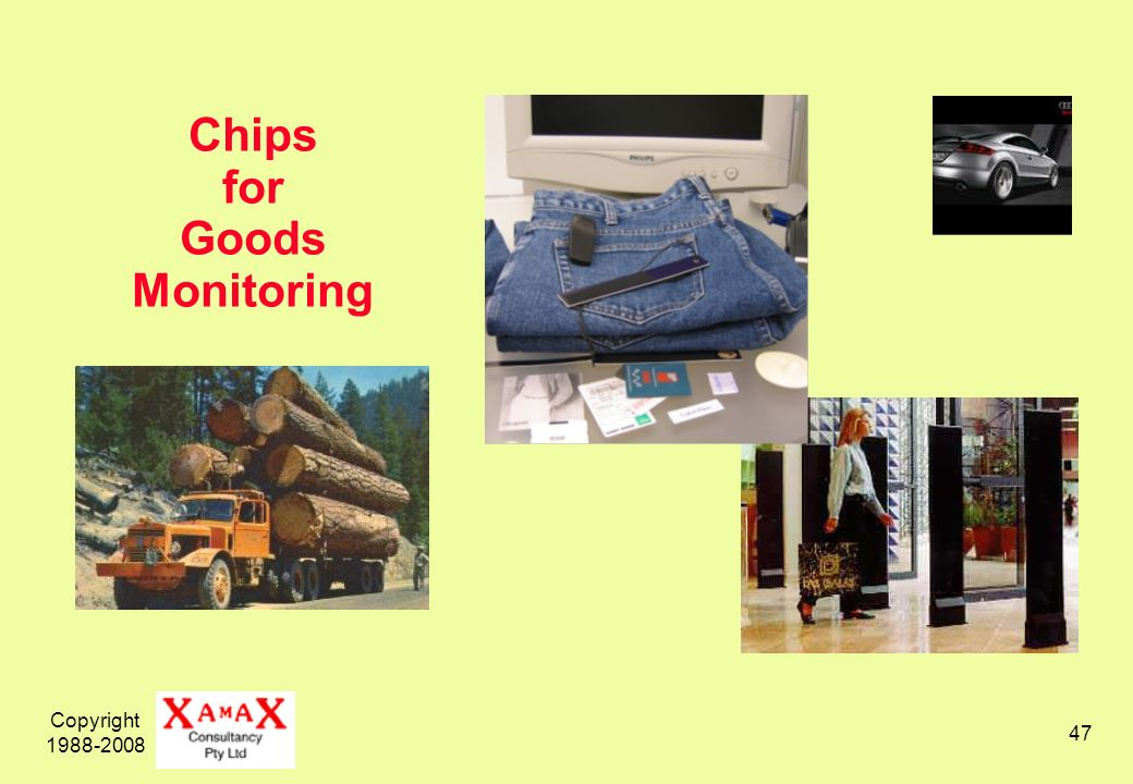 Copyright 1988-2008 47 Chips for Goods Monitoring