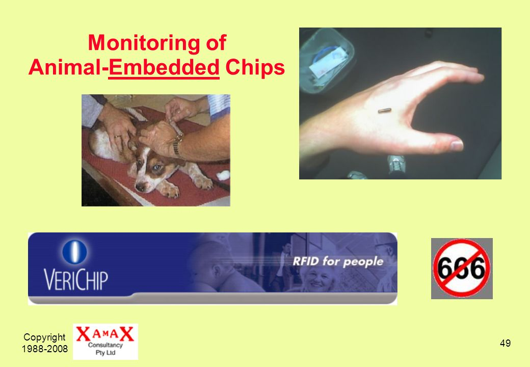 Copyright 1988-2008 49 Monitoring of Animal-Embedded Chips