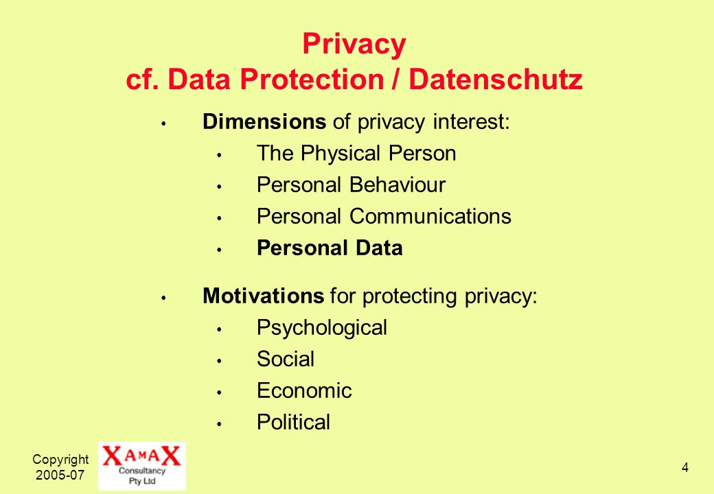 Copyright 2005-07 4 Privacy cf.