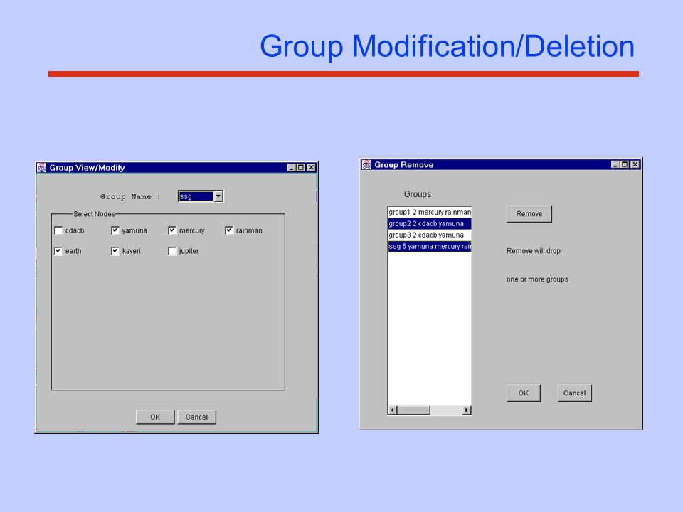 Group Modification/Deletion