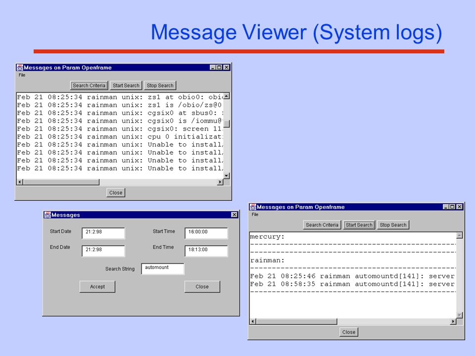 Message Viewer (System logs)