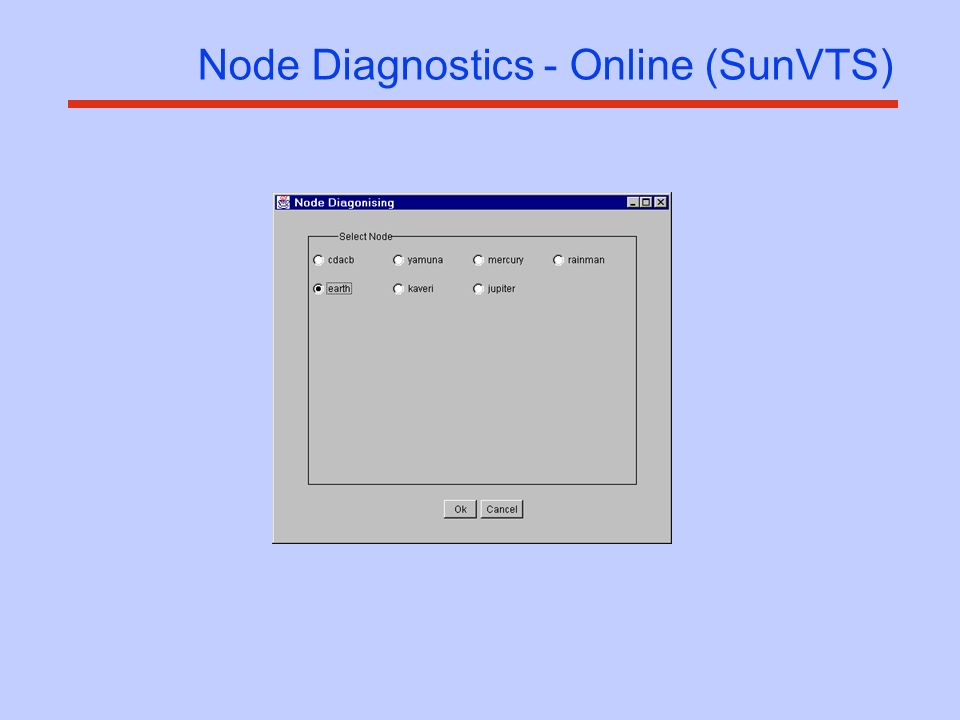 Node Diagnostics - Online (SunVTS)
