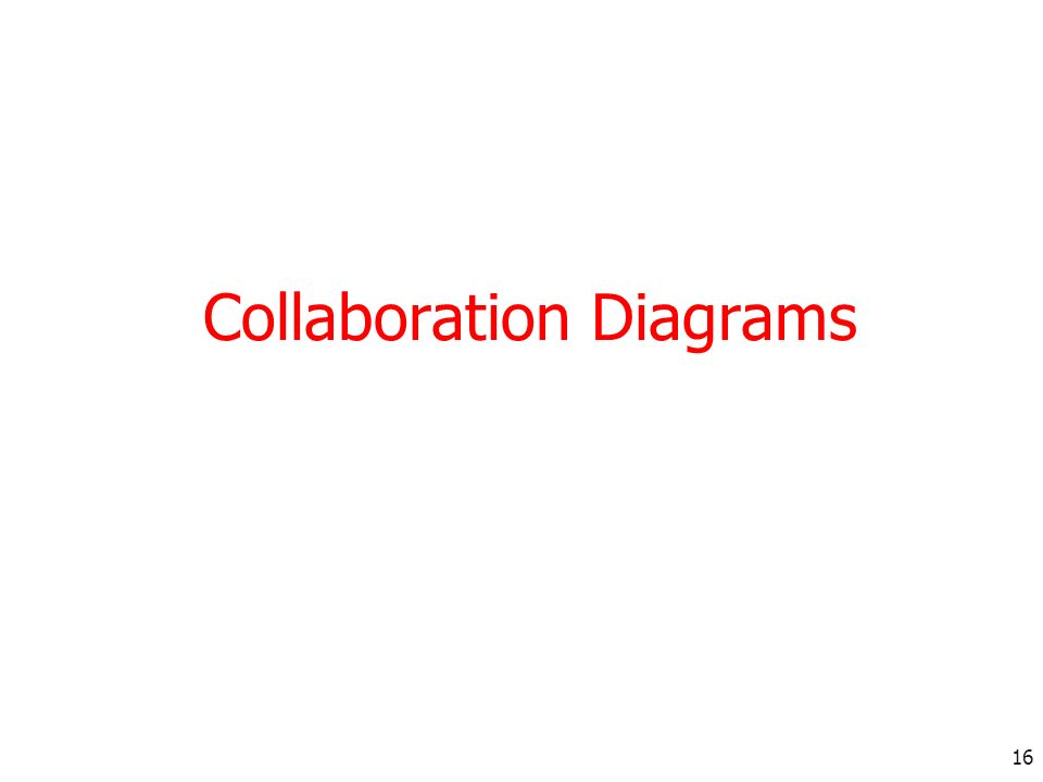 16 Collaboration Diagrams