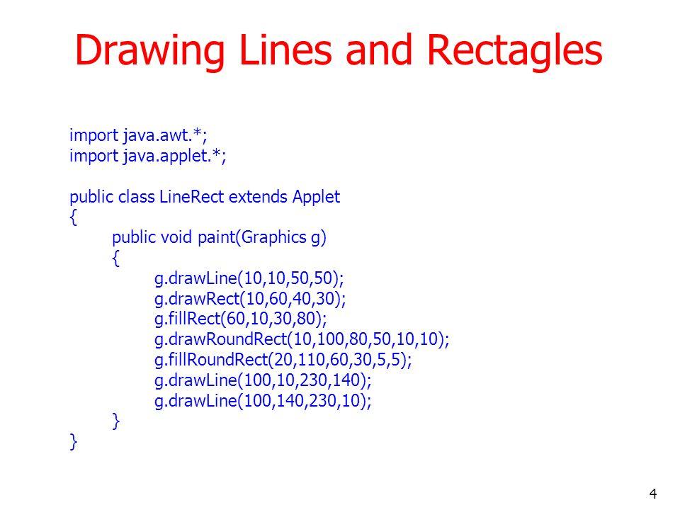 15 HTML file – BarChar.html <APPLET CODE=BarChart.class WIDTH=300 HEIGHT=250>