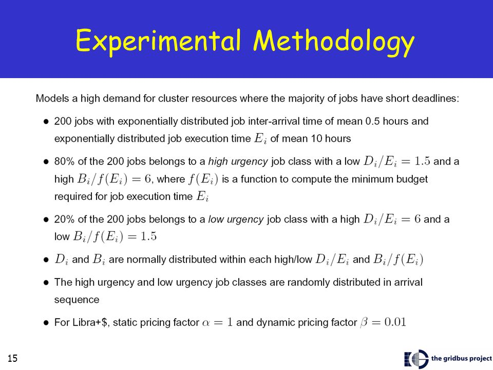 15 Experimental Methodology