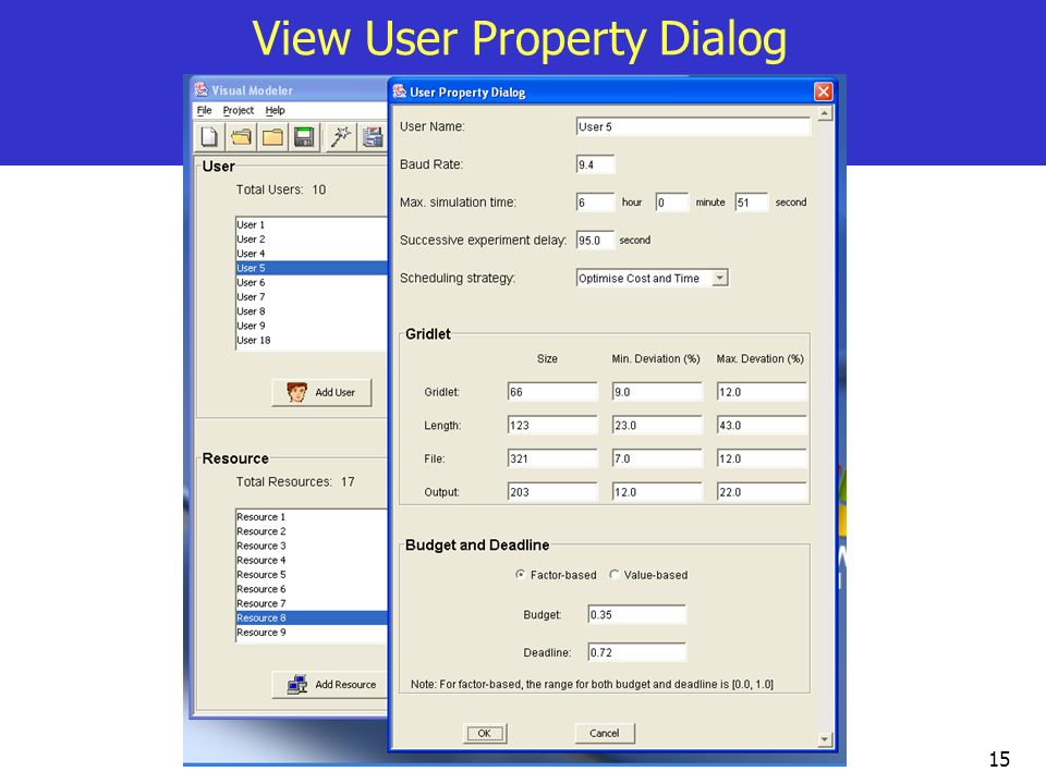 15 View User Property Dialog