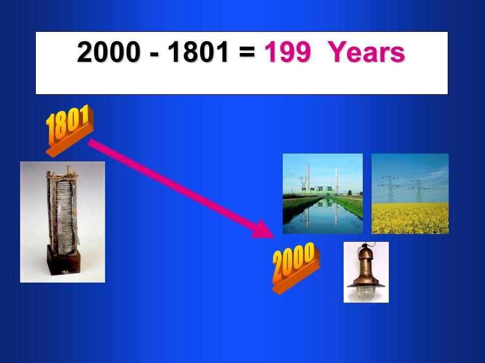 2000 - 1801 = 199 Years