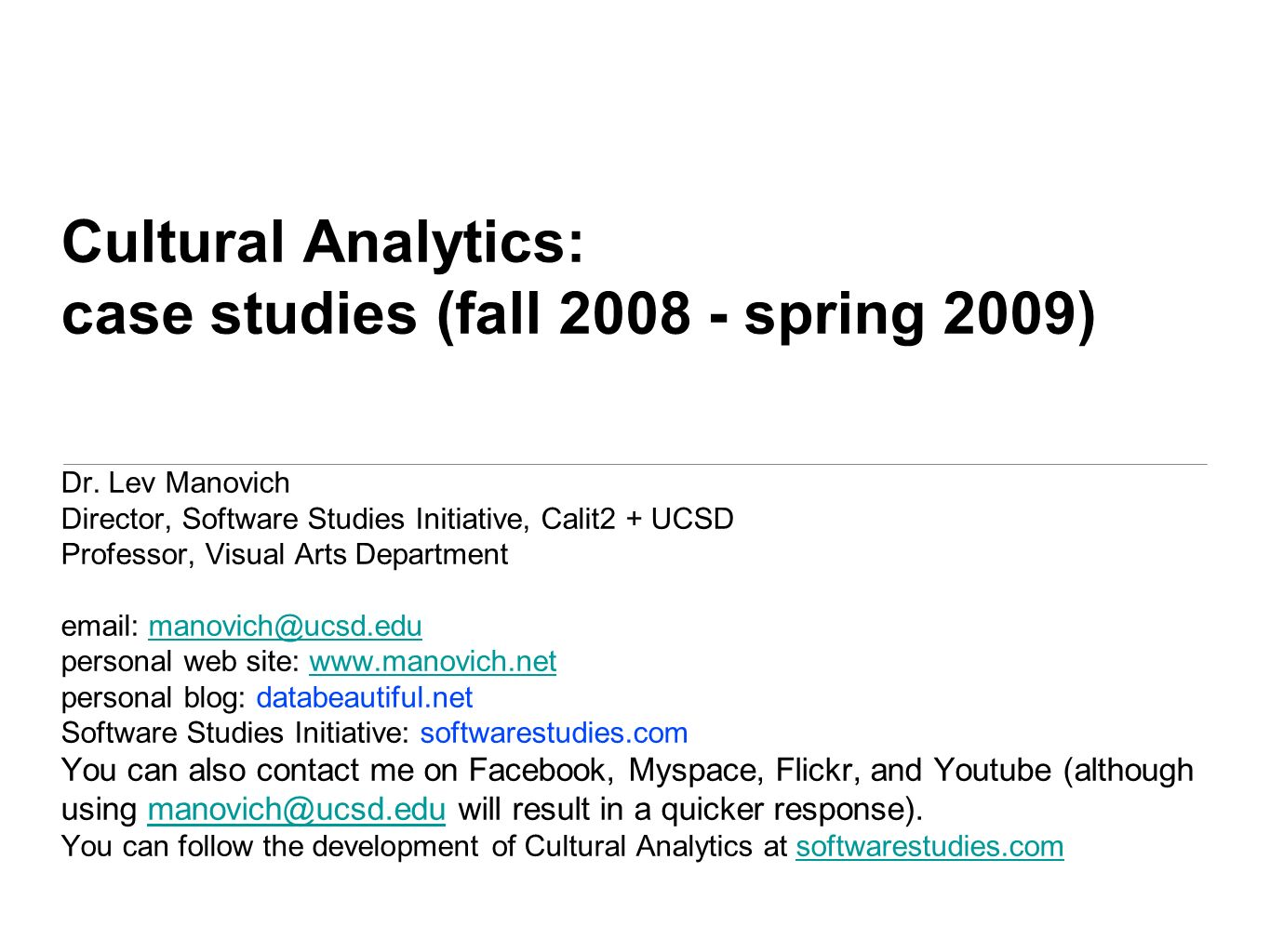 you can find all material in this presentation at softwarestudies.com