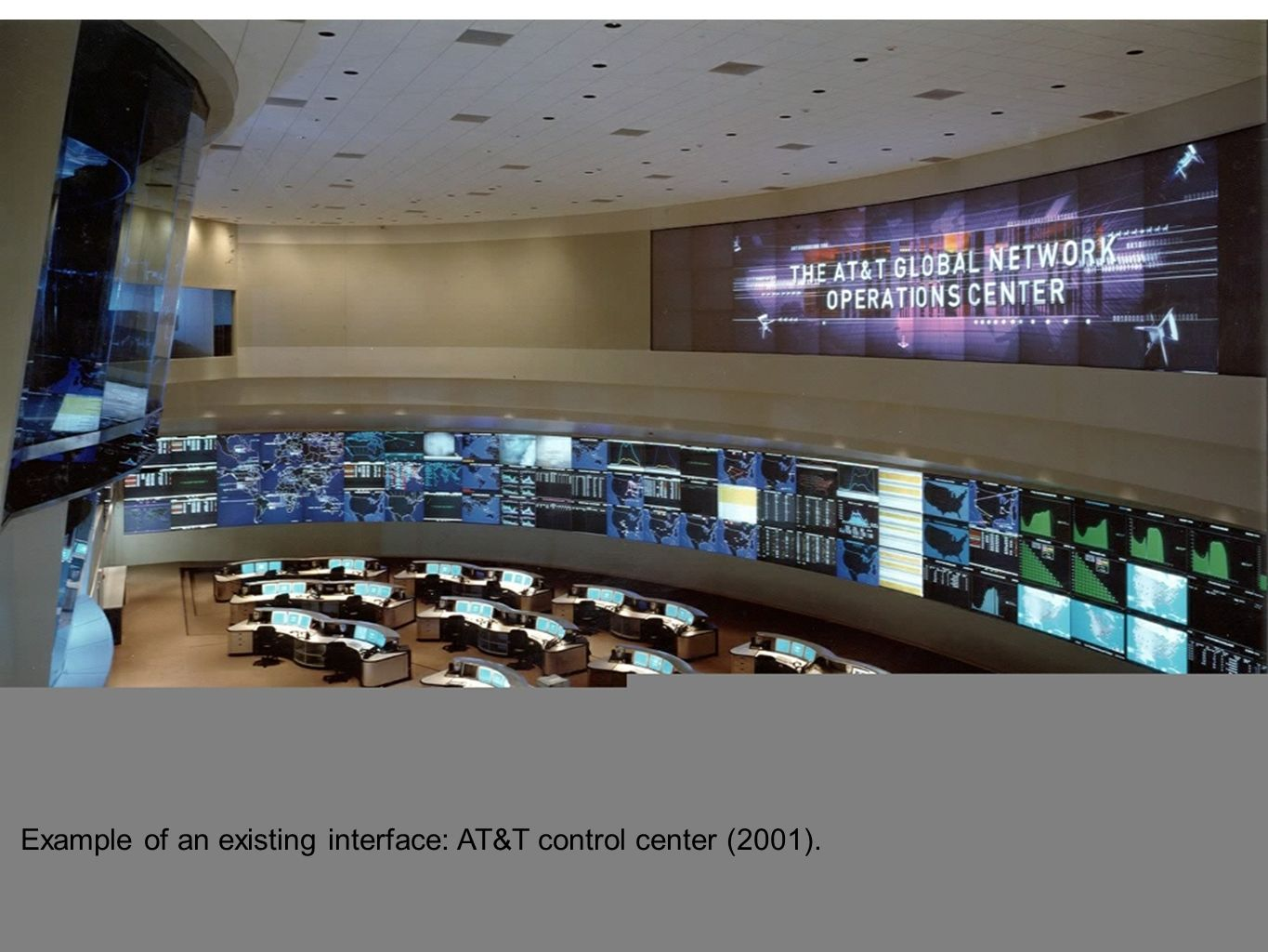 Example of an existing interface: AT&T control center (2001).