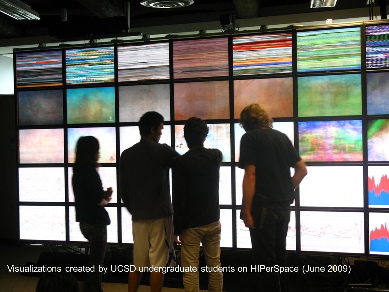 Visualizations created by UCSD undergraduate students on HIPerSpace (June 2009)