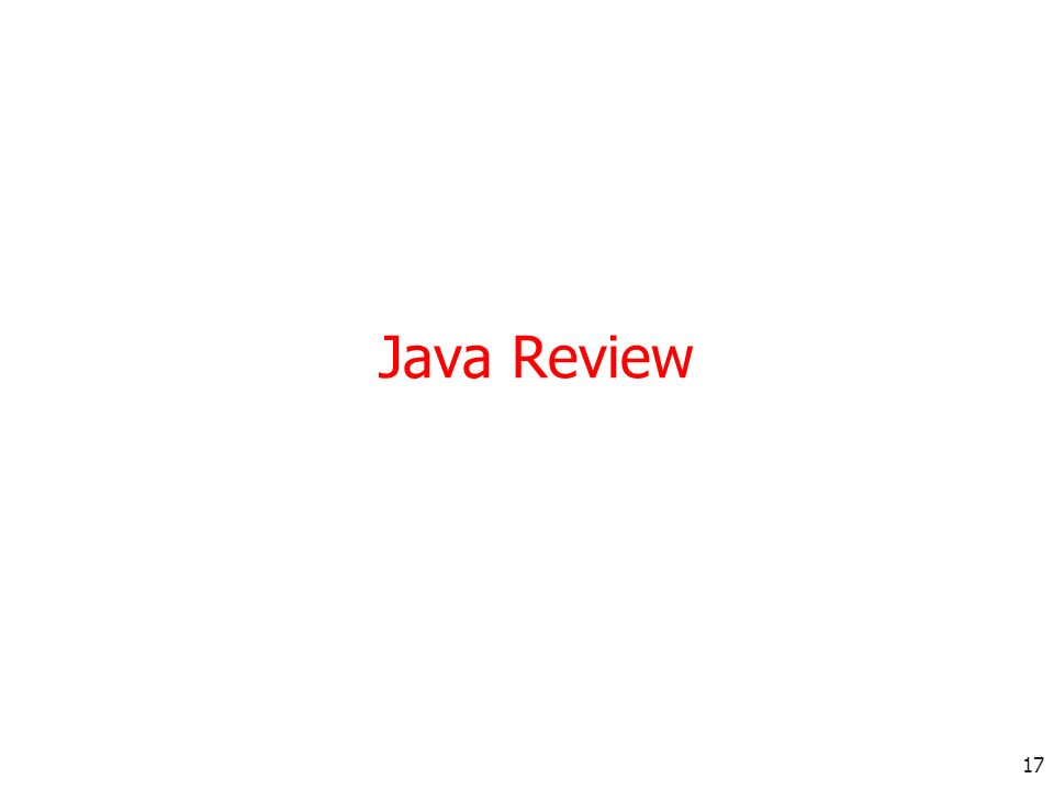 17 Java Review