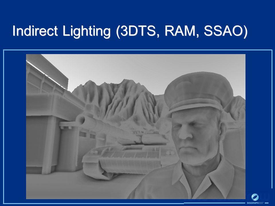 Indirect Lighting (3DTS, RAM, SSAO)