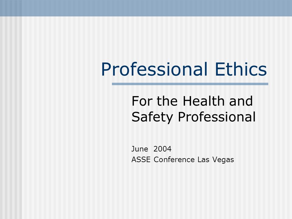 General vs Professional General Ethics – individual as member of community, broader range of issues, top down principles Professional Ethics – moral expectations specific to the occupational group, tend to focus on concrete bottom up cases