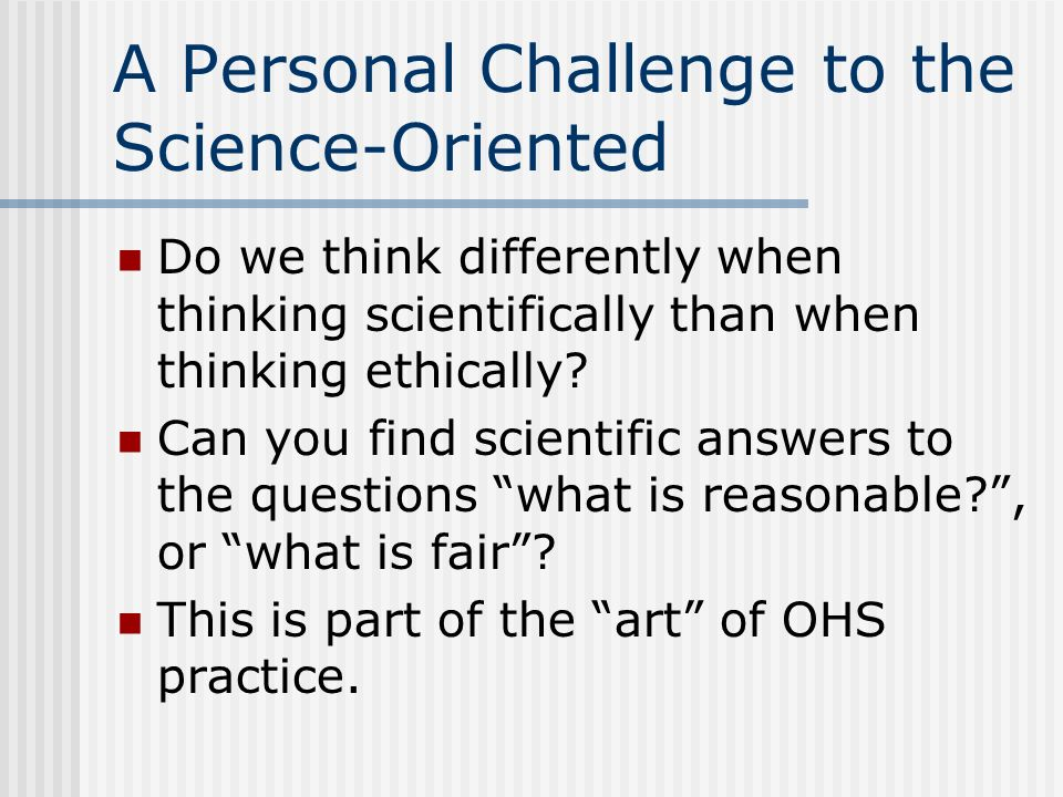 BCSP Code of Ethics -- Standards 5.