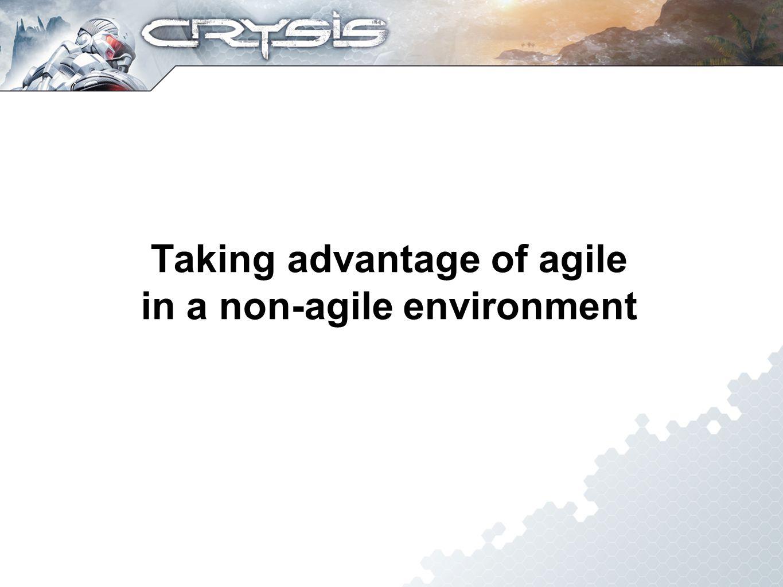Taking advantage of agile in a non-agile environment