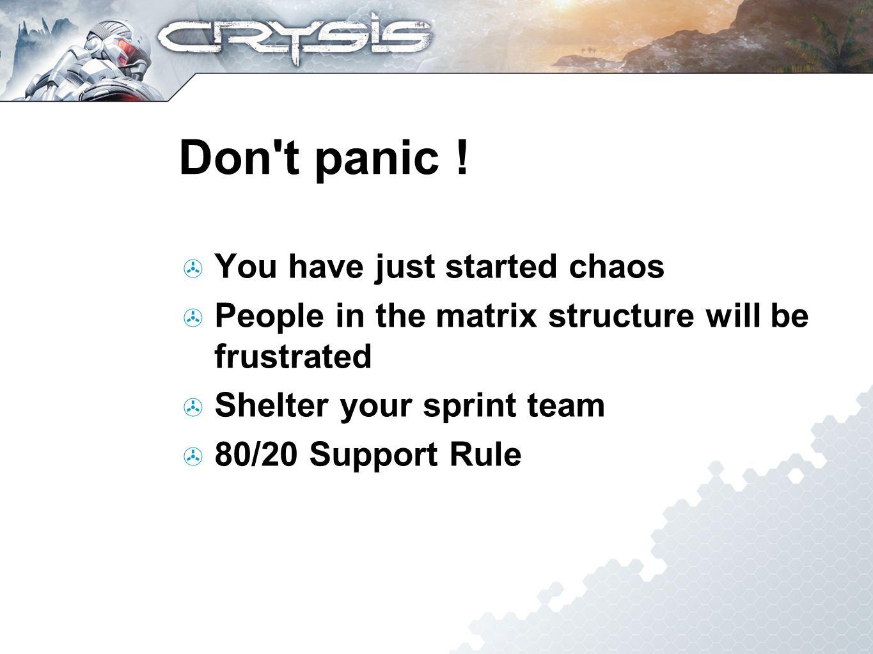 Don t panic .