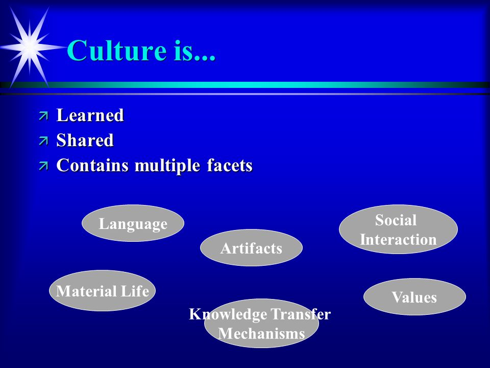 Language Culture is...