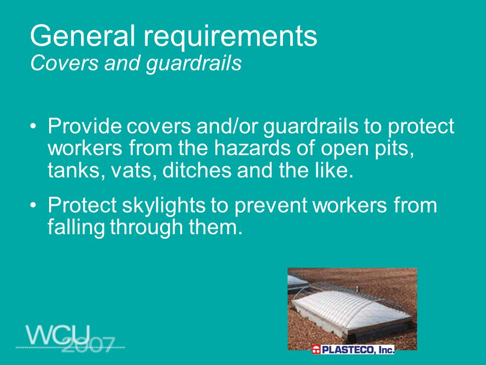 General requirements Floor loading protection Mark load-rating limits on plates and post conspicuously.