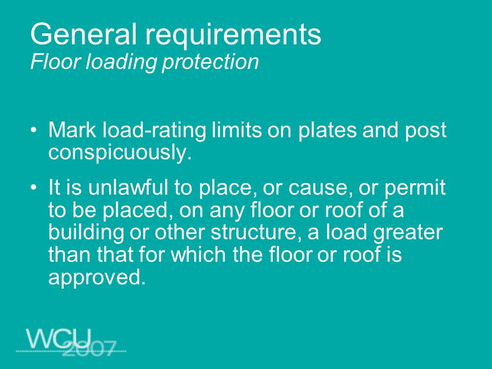 General requirements housekeeping Place equipment needed for housekeeping, such as mops, absorbents, brooms and trash containers, in locations where they are frequently used and kept available.