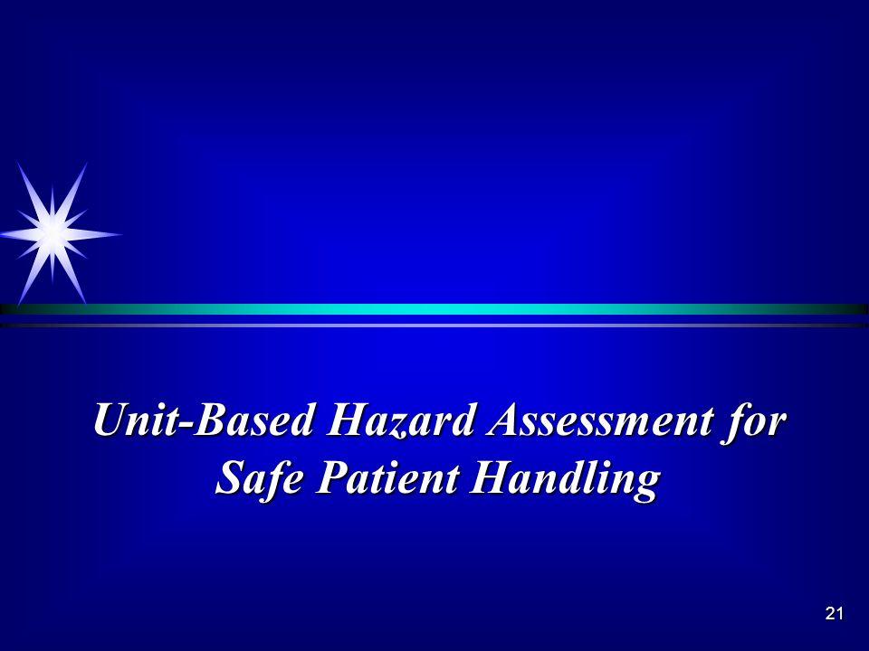 21 Unit-Based Hazard Assessment for Safe Patient Handling
