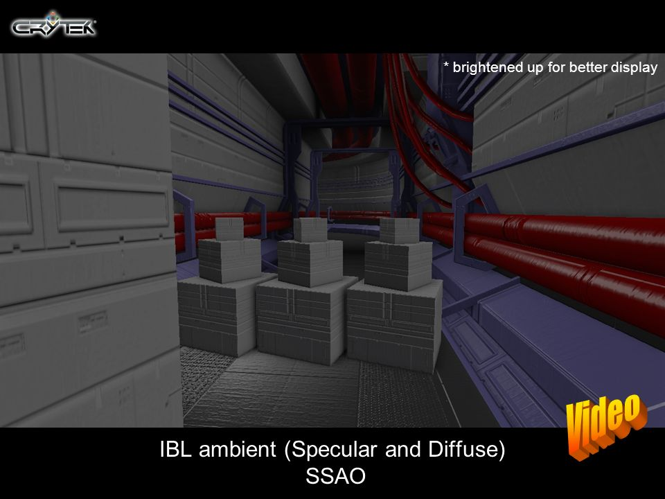 IBL ambient (Specular and Diffuse) SSAO * brightened up for better display