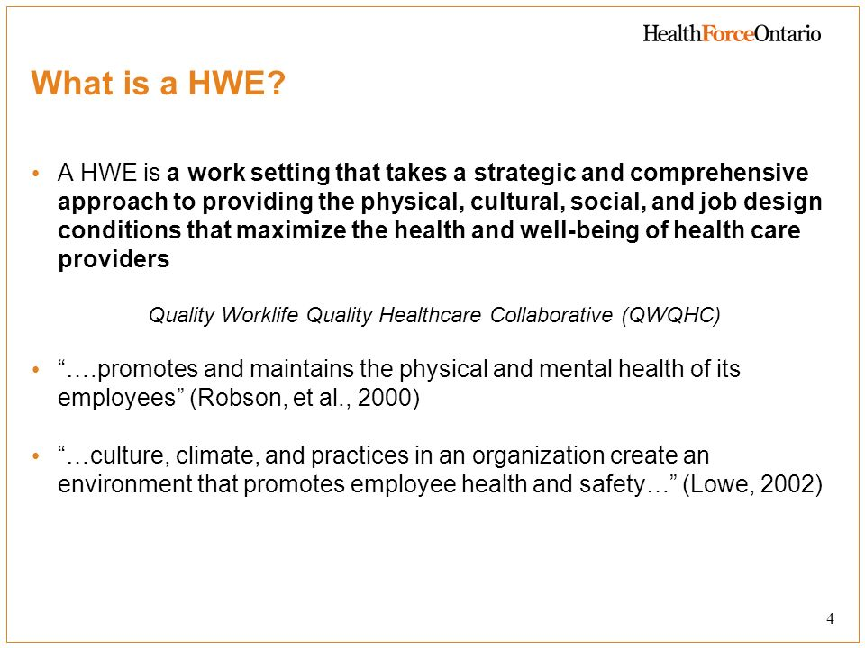 The Expert Advisory Groups Role The role of the HWE Expert Advisory Group members: To advise the HWE Champions (and through them, MOHLTC) on the implementation of the provinces HWE strategy.