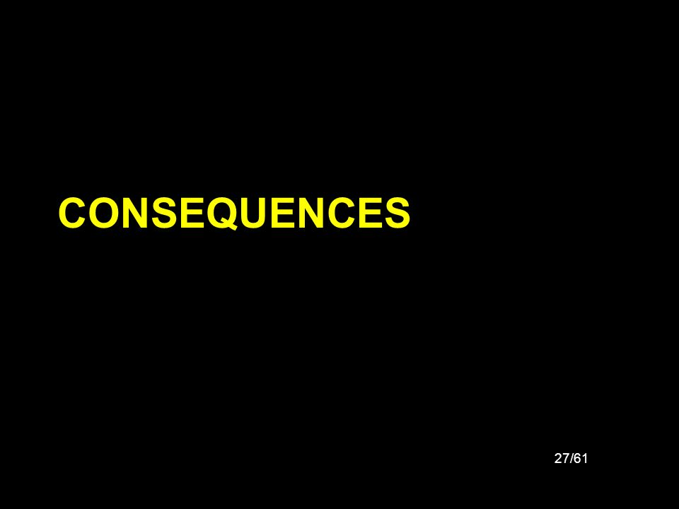 27/61 CONSEQUENCES