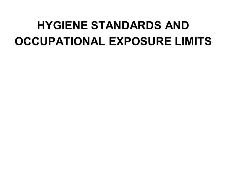 Categories of Exposure Limits Long Term Exposure Limits are expressed as a Time Weighted Average (TWA) normally over an eight hour period.
